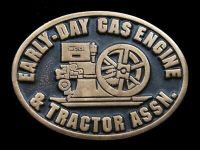 Ri11154 Vintage 1991 **Early-Day Gas Engine & Tractor Assn.** Solid Brass Buckle