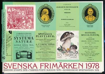 Sweden 1978 Official Stamp Year Pack, Mint Nh Year Set