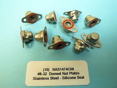 #8-32 Self Sealing Fuel Resistant NAS1473A08 Nut Plates Lot of 100 each