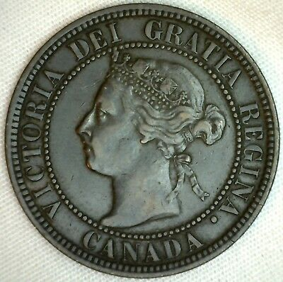 1898 Copper Canadian Large Cent Coin 1-Cent Canada  K22