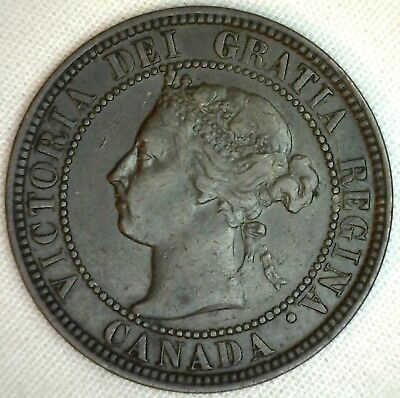 1898 Copper Canadian Large Cent Coin 1-Cent Canada  K15