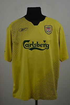 Liverpool England 2004/2005/2006 Away Football Shirt Jersey Reebok Size L