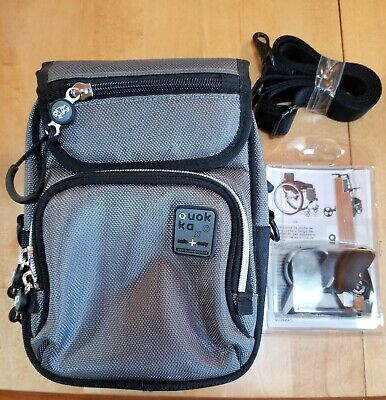 Quokka Bag/purse for Wheelchairs (Black/Gray) With Adapter New! FREE SHIPPING!