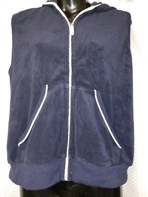 9fd7b0446b323 Women's CATALINA Stretch Terry Hoodie Zip Front Cover Up - Vest sz M 8/10