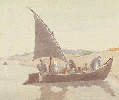 J.W.A. Young - Mid 20th Century Watercolour, Middle Eastern River Scene