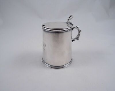 Tiffany Sterling Silver Elegant Mustard Pot Jam Jar 19Th Century