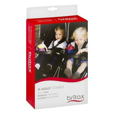 Britax B-Agile Double Stroller Child Snack Tray Drink Holder Black New