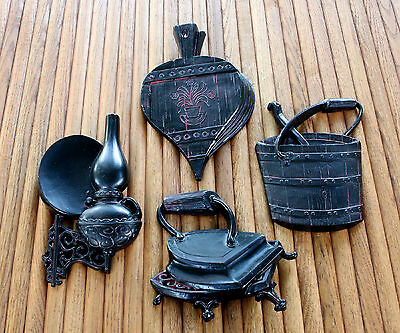 Vintage 1966 Mid Century Sexton Aluminum Wall Hanging Set 4 Pieces #587