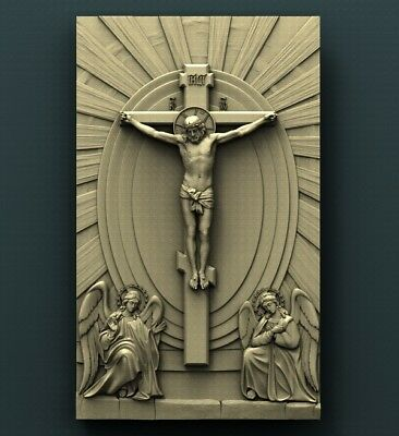 3d STL Model Relief for CNC Router Aspire _ (0398) Crucifixion of Jesus