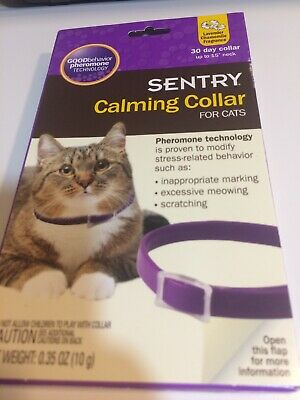 """Unopened Sentry Calming Collar for Cats up to 15"""" Neck 1 Collar Lavender Chamomi"""