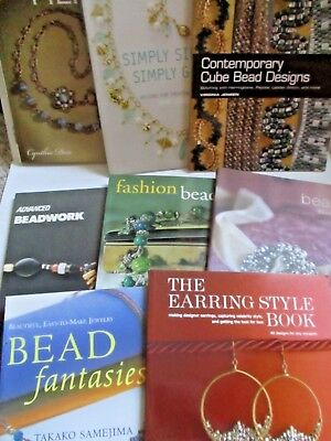 Lot of 8 Beading Books Crafts FREE SHIP jewelry making Cube Bead Filigree