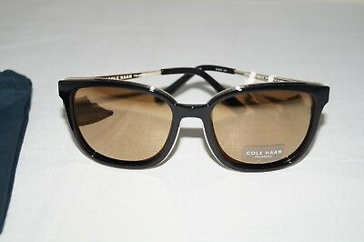 acdfd04042 NWT Authentic COLE HAAN SG5081 Black with Gold Flash Women s Sunglasses