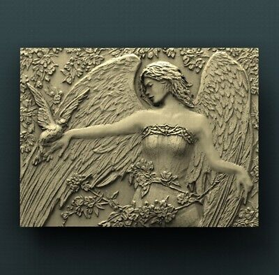 3d STL Model Relief for CNC Router Aspire _ (0416) Angel