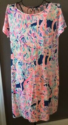 d88fd89cca3cd2 NWT LILLY PULITZER Floral Marlowe Dress Pelican Pink Size Large ...
