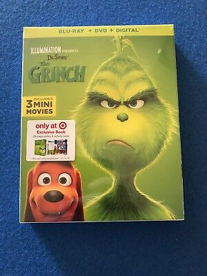 Dr.seuss The Grinch(Blu-Ray+Dvd+Digital)Target Exclusive Exclusive 26-Page Book