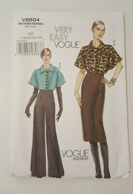 Misses Easy Plus Size Jacket Skirt Pants Sewing Pattern  Vogue V8604 Choice