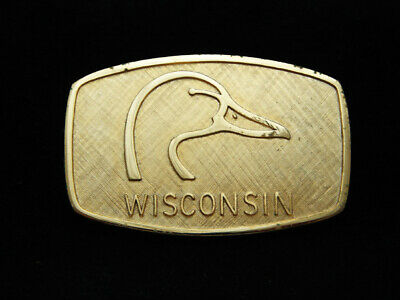 PC01169 *NOS* VINTAGE 1970s **DUCKS UNLIMITED WISCONSIN** HUNTING BUCKLE