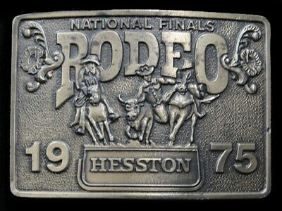 Sa01175 Used Nfr **1975 National Finals Rodeo** Hesston Collector Belt Buckle