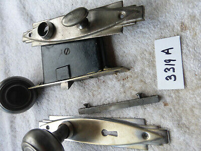 Vintage Antique Art Deco 5 PC  Privacy Door Hardware SET 3319 A