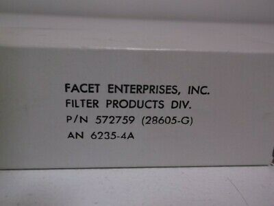 Facet Enterprised 572759 Filter Element Size 4 * New In Box *