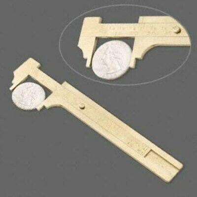 Solid India Brass Metal Sliding Precision Jewelry Gauge Ruler Tool