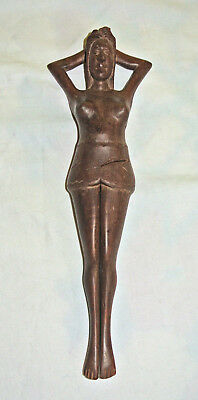 Vintage 1950-60's naked Woman Hand Carved Wooden NUTCRACKER Exotic VGC