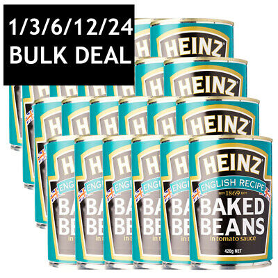 HEINZ BAKED BEANS ENGLISH RECIPE IN TOMATO SAUCE PROTEIN & FIBRE BULK 420g