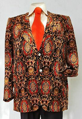 1970's Velvet printed 'Liberace' jacket, by 'Cortefiel', Made in Spain, size ...