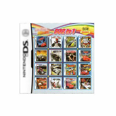 Video Game DS 3DS Cartridge Card Game Console 502 In 1 MULTI CART