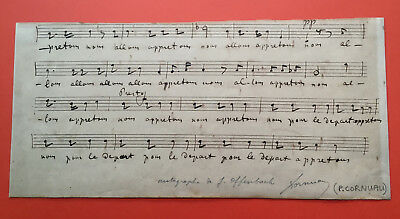 Jacques OFFENBACH - Manuscrit musical autographe