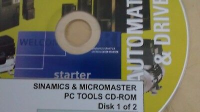 SIEMENS SINAMICS STARTER & MICROMASTER STARTER PC TOOLS SOFTWARE 2 CDs