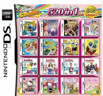 Video Game DS 3DS Cartridge Card Game Console 520 In 1 MULTI CART
