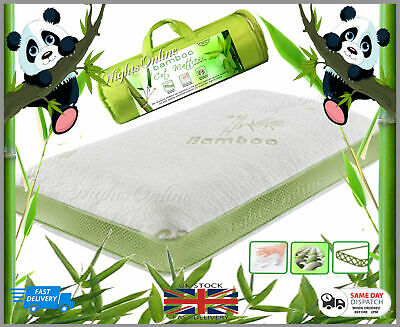 Cot Bed Bamboo Mattress With Removable Cover Memory Foam Pillow 2 SIZES TOP ITEM