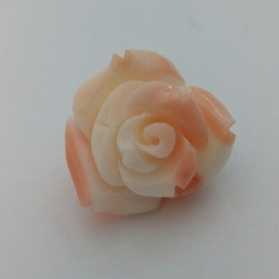 Pink coral rose, pendant, ring, pin, natural coral authentic, angel skin
