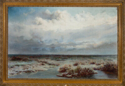 Richard Hartley (1841-1921) - Early 20th Century Oil, After the Hail Storm