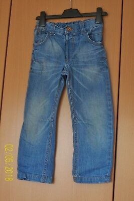 Boys Distressed Blue Denim Jeans 3 - 4 Years Elastic Back Waist * Pockets George