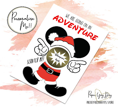 Scratch & Reveal a Surprise Trip Card. Travel Card. Disneyland Holiday Card
