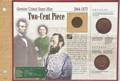 1959-Present Lincoln Memorial Proof Penny & 1864-1873 Two Cent Piece