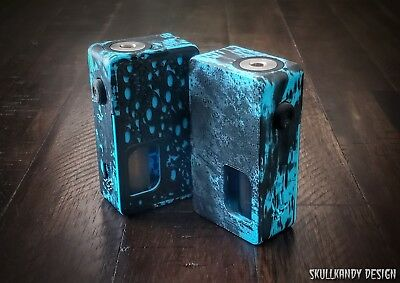 VENOM X HD 20700 ABS V2 Full Mech SS Squonk Mod Box T  BLUE Desecrated  SKULLY
