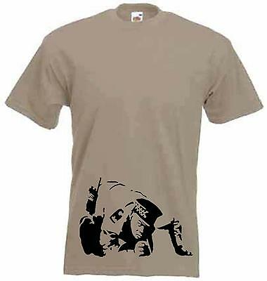 BANKSY COKE COPPER T-SHIRT Cocaine Police Line Up - Choice Of Colors Size S-3XL