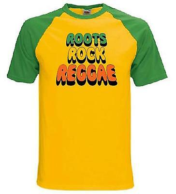 ROOTS ROCK REGGAE T-SHIRT -  Rasta Bob Marley Jamaica Rastafarian - Sizes S-XXL