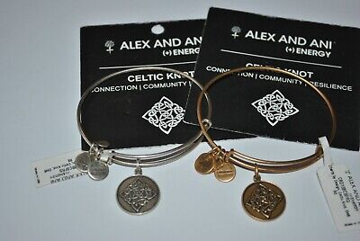 Alex & ani YOU CHOOSE rafaelian gold/silver Celtic Knot bracelet nwt