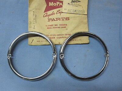 NOS 1957 1958 1959 1960 Dodge Truck Fargo Pickup Park Light Bezel Mopar 1662316