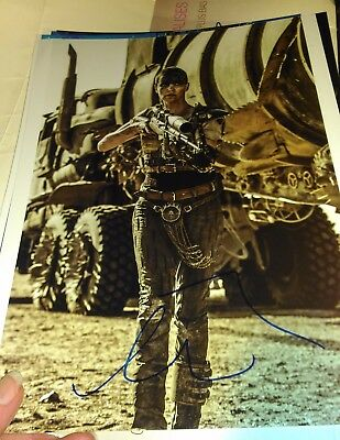Autographe de Charlize Theron - Mad Max - signed in person