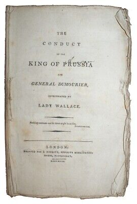 1793 FRENCH REVOLUTION History GENERAL DUMOURIER Prussia LADY WALLACE 1st Ed.