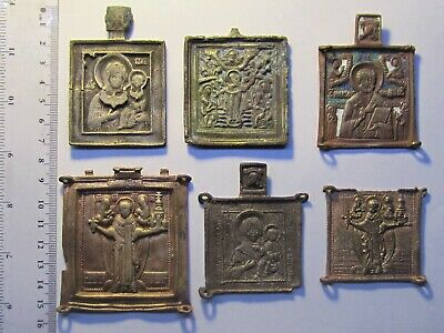 Large lot of ancient icons, parts of triptych icons