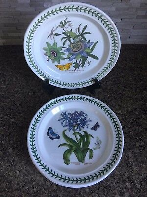 Portmeirion Botanic Garden 1 African Lily 2 Blue Passion Set of 3 Dinner Plates