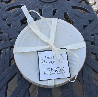 """Lenox Little Everything French Perle White Ice Blue Pistachio 5"""" Plates Qty 3"""