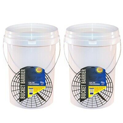 Martin Cox MOGG105 MOGG79 Detailing Car Wash Bucket 20L & Grit Guard 2 Pieces