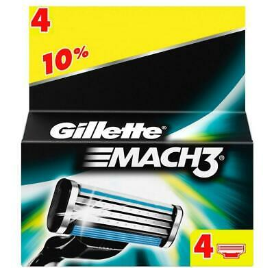 Gillette Mach3 Cartridges New Genuine Boxed Blades 1, 4, 8,12,16,or 32 Refill UK